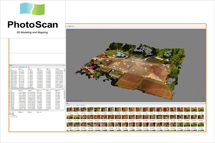 PhotoScan(3D点群作成)